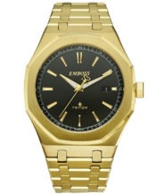 שעון אנלוגי מוזהב דגם TRITON