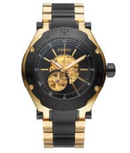 שעון אוטומטי לגבר בציפוי זהב 18 קראט