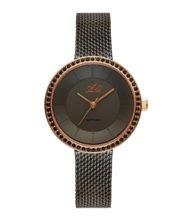 שעון יד לאישה מושחר עם זכוכית ספיר