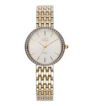 שעון יוקרתי מעוטר אבנים עם זכוכית ספיר