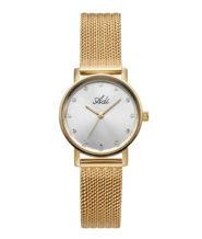 שעון נשים מוזהב עם זרקונים