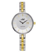 שעון יד לאישה עם תאריכון וזכוכית ספיר בעיצוב מעודן מבית ADI
