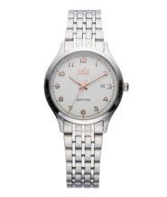 שעון נשים אלגנטי כסוף עם תאריכון