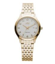 שעון נשים אלגנטי מוזהב עם תאריכון