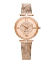 שעון נשים אלגנטי עם רצועת מש רוזגולד