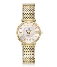 שעון לאישה משובץ זרקונים בעיצוב מרשים