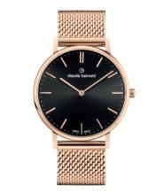 שעון שוויצרי עם זכוכית ספיר ורצועת מש