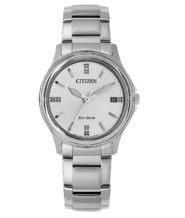 שעון סולארי כסוף לאישה עם תאריכון