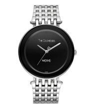 שעון כסוף דגם NOHO לוח שחור