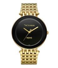 שעון מוזהב דגם NOHO לוח שחור