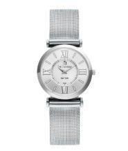 שעון כסוף דגם NEW YORK רצועת מש
