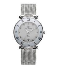 שעון דגם RIO רצועת מש מוכסף לבן