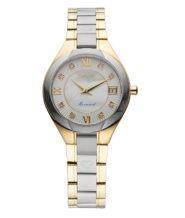 שעון יהלומים לאישה מצופה זהב 18K