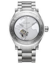שעון יד אוטומטי יוקרתי לגבר כסוף