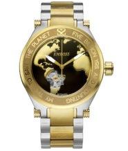 שעון יד אוטומטי כסוף וזהב לגבר