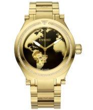 שעון אוטומטי מוזהב בשיבוץ 100 יהלומים