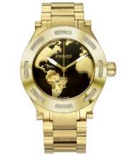 שעון אוטומטי מוזהב בשיבוץ 56 יהלומים