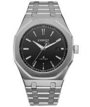 שעון אנלוגי כסוף דגם TRITON