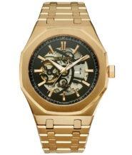 שעון אוטומטי בציפוי זהב אדום 18K
