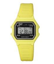 שעון יד דיגיטלי מלבני צהוב