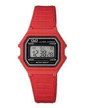 שעון יד דיגיטלי מלבני אדום