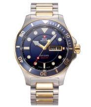 שעון שוויצרי לגבר עם זכוכית ספיר