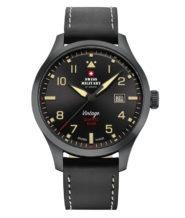 שעון שוויצרי לגבר קוורץ עם זכוכית ספיר