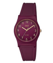 שעון יד אנלוגי בורדו לאישה