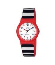 שעון יד אדום עם פסים לילדים עמיד במים
