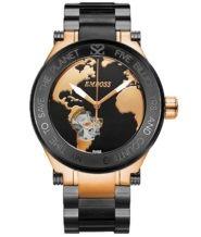 שעון יד אוטומטי יוקרתי לגבר זהב אדום